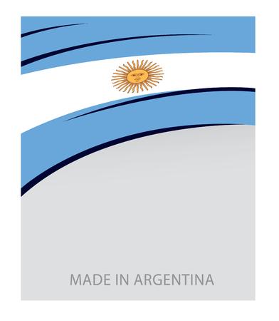 Argentinië achtergrond, Argentijnse vlag (Vector kunst)