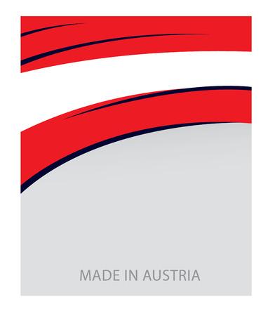 austrian: Austria Color, Austrian Flag (Vector Art) Illustration