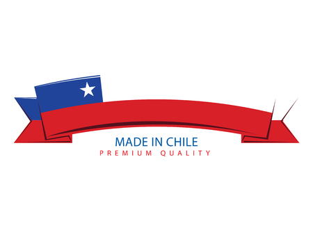 bandera chilena: Made in Chile Seal, Chilean Flag (Vector Art)