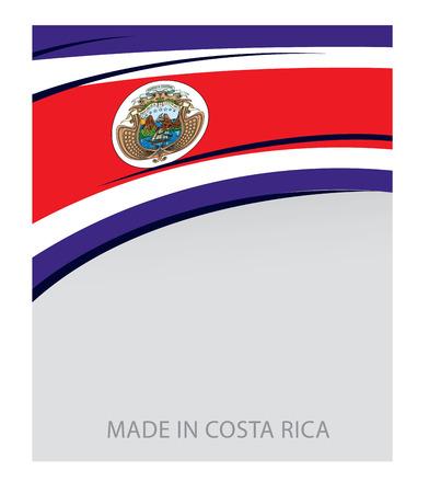 costa rican flag: Costa Rica Color, Costa Rican Flag (Vector Art)