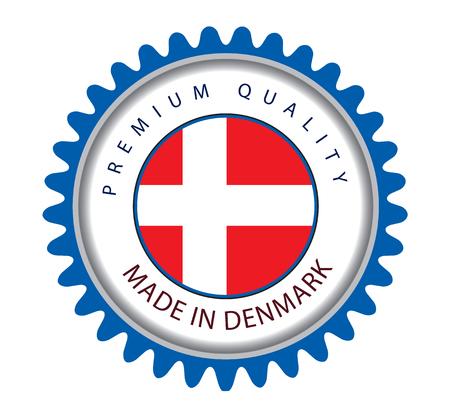 danish flag: Made in Denmark Seal, Danish Flag (Vector Art)