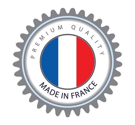 francais: Made in France Seal, French Flag (Vector Art) Illustration