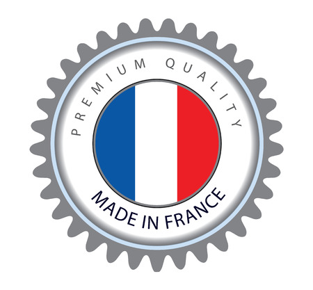 Made in France Seal, French Flag (Vector Art) Illustration