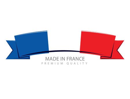 francais: Made in France Ribbon, French Flag (Vector Art) Illustration