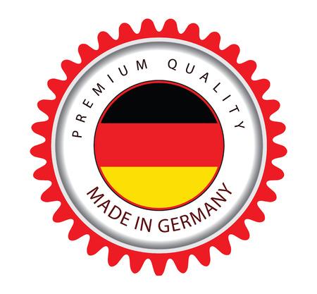 Made in Germany Seal, German Flag (Vector Art) Illustration