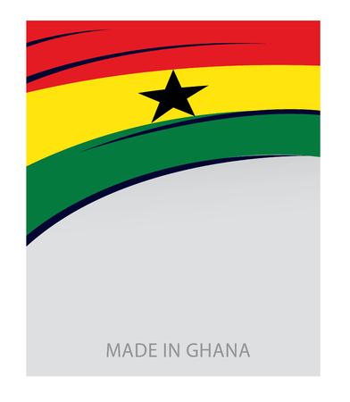 Ghana: Ghana Color, Ghanaian Flag (Vector Art)