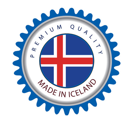 Made in Iceland Seal, Icelandic Flag (Vector Art)