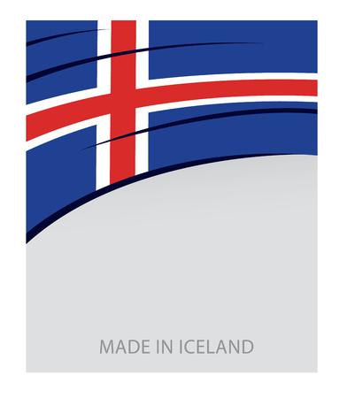 icelandic: Iceland Color, Icelandic Flag (Vector Art) Illustration