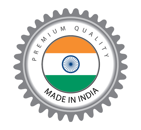 Made in India Seal, Indian Flag (Vector Art)