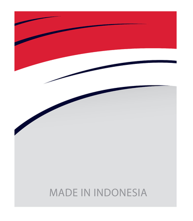 Indonesia Color, Indonesian Flag (Vector Art) Illustration