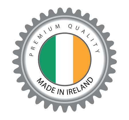 Made in Ireland Seal, Irish Flag (Vector Art)