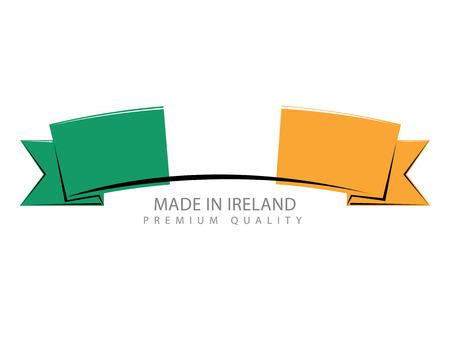 irish flag: Made in Ireland Ribbon, Irish Flag (Vector Art) Illustration