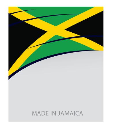 Jamaica Color, Jamaican Flag (Vector Art)
