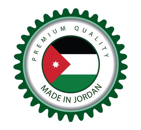 Made in Jordan Seal, Jordanian Flag (Vector Art) Illustration