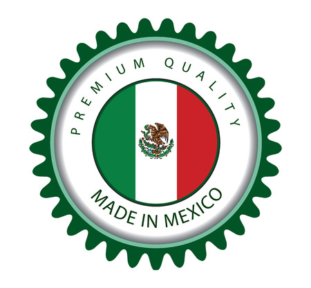 drapeau mexicain: Made in Mexico Seal, Mexican Flag (Vector Art) Illustration