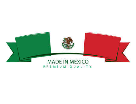 drapeau mexicain: Made in Mexico Ribbon, Mexican Flag (Vector Art) Illustration