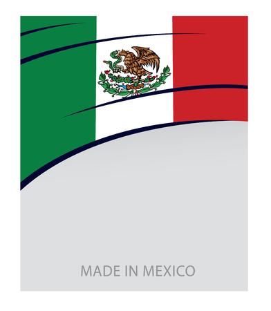 bandera de mexico: México del color, de la bandera mexicana (Arte del vector)