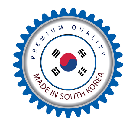 Made in Korea Seal, South Korea Flag (Vector Art) Иллюстрация