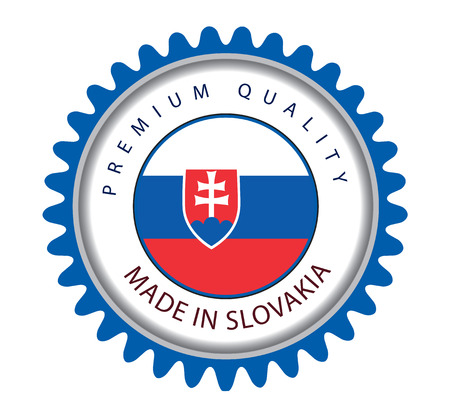 Made in Slovakia Seal, Slovak Flag (Vector Art)