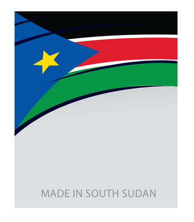 Sudan: South Sudan Colors, s. Sudan Flag (Vector Art) Illustration