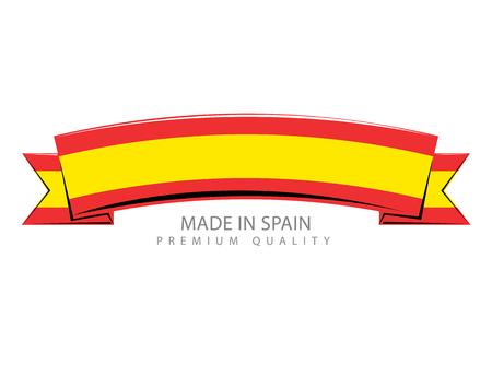 spanish flag: Made in Spain Ribbon, Spanish Flag (Vector Art)