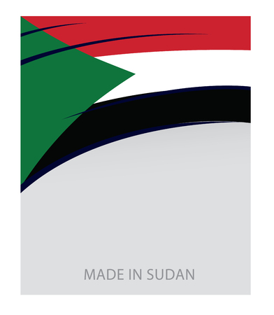 Sudan: Sudan Colors, Sudan Flag (Vector Art) Illustration