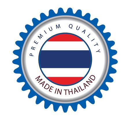 thai flag: Made in Thailand Seal, Thai Flag (Vector Art) Illustration