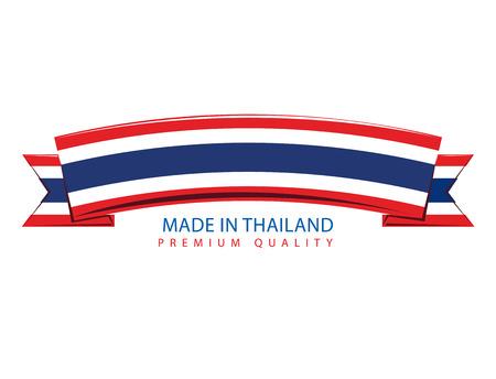 thai flag: Made in Thailand Ribbon, Thai Flag (Vector Art)