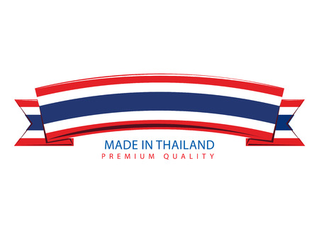 Made in Thailand Ribbon, Thai Flag (Vector Art)