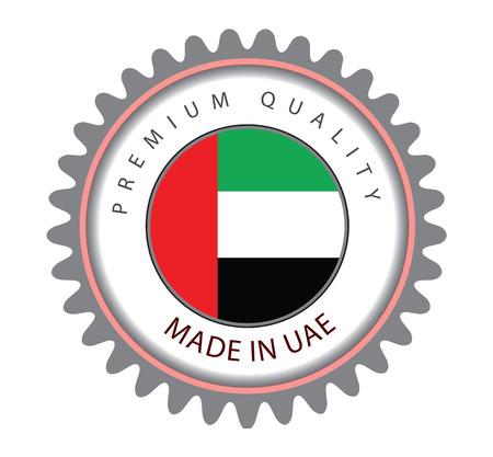Made in UAE Seal, Emirates Flag (Vector Art)