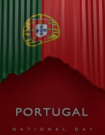 bandera de portugal: Portugal Sello de la bandera, la bandera portuguesa (3d) Foto de archivo