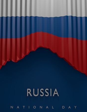 russian flag: Flag Russia Seal, Russian Flag (3D Render)