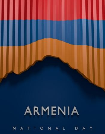Flag Armenia Render, Armenian 3D Flag (3D Render)