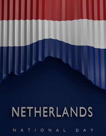 holland flag: flag Netherlands render, Holland Flag (3D Render)