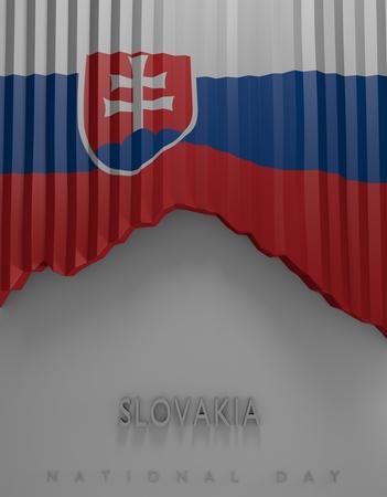 slovakian: Flag Slovakian Colors, Slovakia Flag (3D Render)