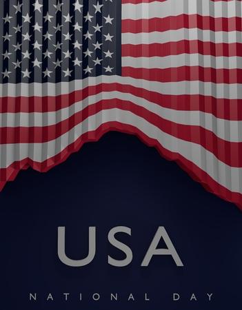 국기 미국 색상, 미국 국기 (3D 렌더링) 스톡 콘텐츠