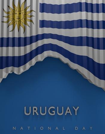bandera de uruguay: Flag Uruguayan Colors, Uruguay Flag (3D Render)