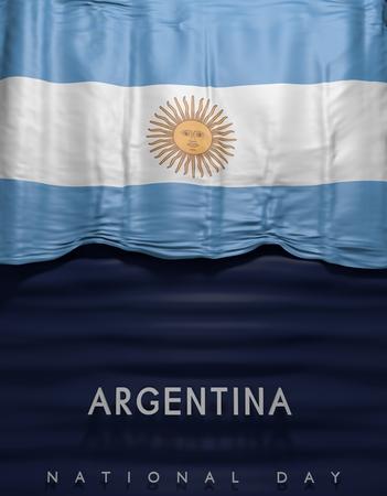 argentinian flag: Flag Argentina Seal, Argentinian Flag (3D Render)