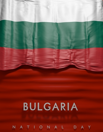 3D Bulgaria Flag, Bulgarian Flag (3D Render)