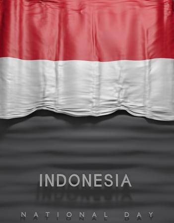 flag Indonesia render, Indonesian Flag (3D Render)