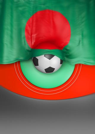 Flag Bangladesh Seal, Bangladeshi Flag (3D Render) Stock Photo