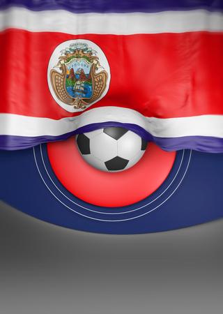 costa rican flag: flag Costa Rica render, Costa Rican Flag (3D render)