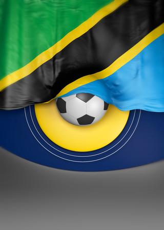 tanzania: Flag Tanzanian Colors, Tanzania Flag (3D Render)