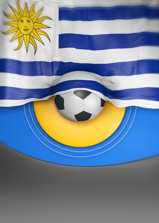 bandera de uruguay: Colores de la bandera de Uruguay, Bandera de Uruguay (3d)