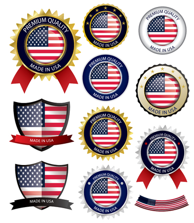 미국인 인감, 미국 국기 (벡터 아트) (EPS10) 일러스트