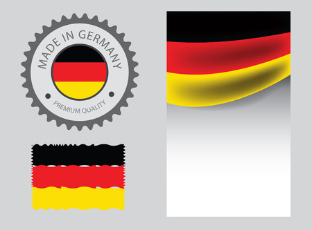 Made in Germany seal, German flag and color --Vector Art--