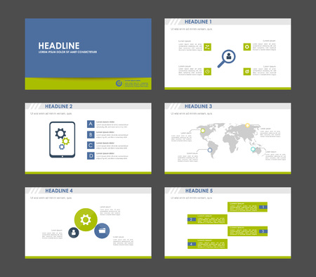 keynote: Elements of infographics for presentations templates. Leaflet, Annual report, book cover design. Brochure, layout, layout template design. Illustration.