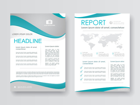Cover design annual report,template brochures,  presentations, leaflet, magazine a4 size. White with abstract background