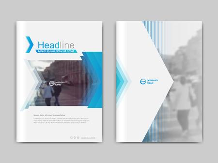 Jaarverslag ,, presentatie, brochure. Voorpagina-rapport, boekomslaglay-outontwerp. Ontwerpsjabloon in A4-formaat. Abstracte groene transparante veelhoeken bedekken sjablonen