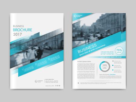 Rapport annuel, présentation, brochure. Rapport de première page, conception de mise en page de couverture de livre. Modèle de disposition de conception au format A4. Modèles de couverture de polygones transparents vertes abstraites